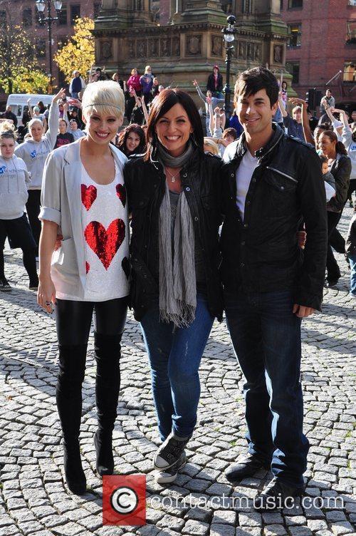 Davina McCall with judges Adam Garcia and Kimberly...