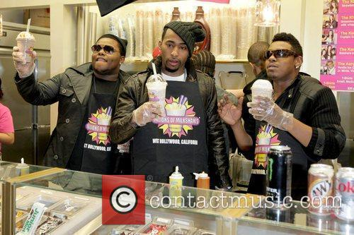 Day26, Who Are Nominated For An Upcoming American Music Award and Visit Millions Of Milkshakes To Create Their Own Custom Drinks