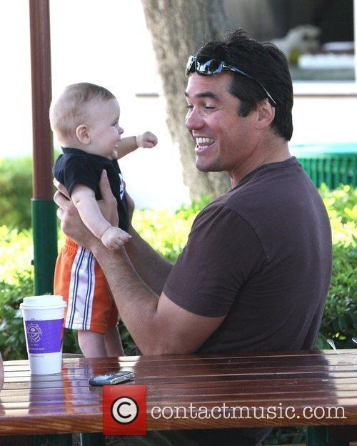 Dean Cain looks after a friend's baby as...