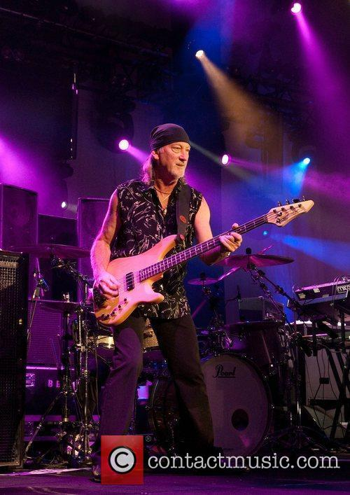 Roger Glover Deep Purple performing at Manchester Apollo...