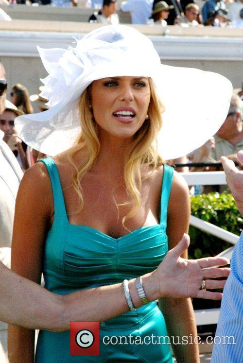Carrie Prejean Opening day at Del Mar Race...