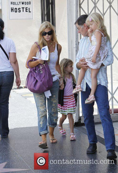 Taking her daughters Lola Rose Sheen-Estevez and Sam...