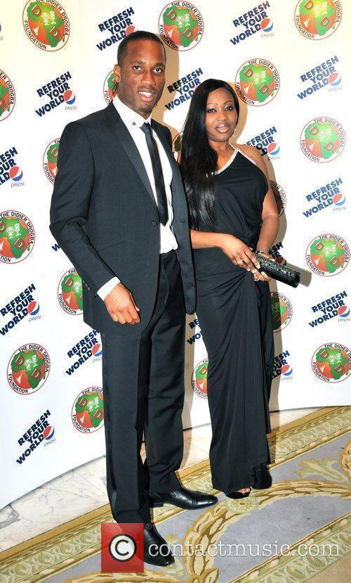 Didier Drogba and guest The Didier Drogba Foundation...