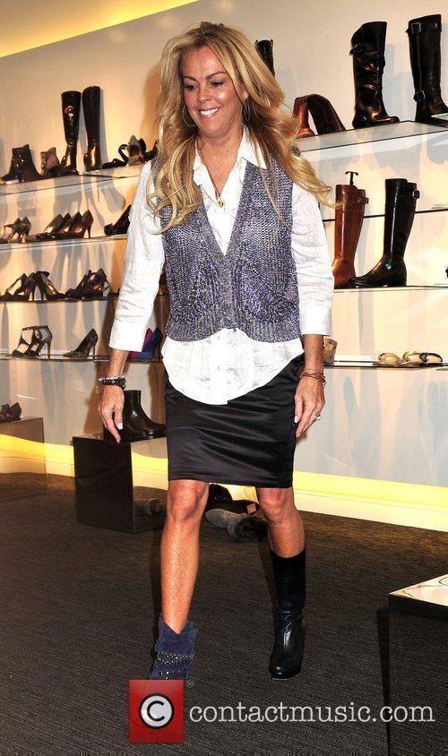 Dina Lohan launches her new footwear range 'Shoe-Han'...