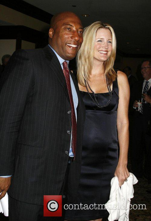 Byron Allen and his wife Jennifer Lucas The...