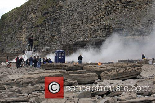 A general view of the on location filming...
