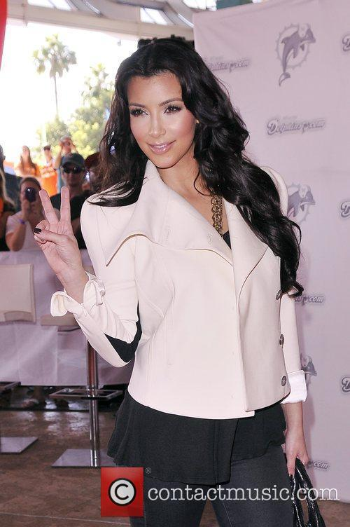 Kim Kardashian Miami Dolphins vs New Orleans Saints game at Land Shark stadium -