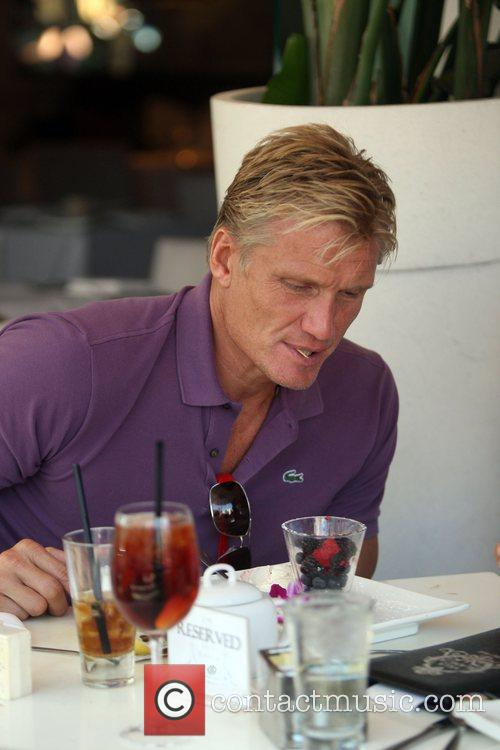 Dolph Lundgren  was spotted eating lunch with...