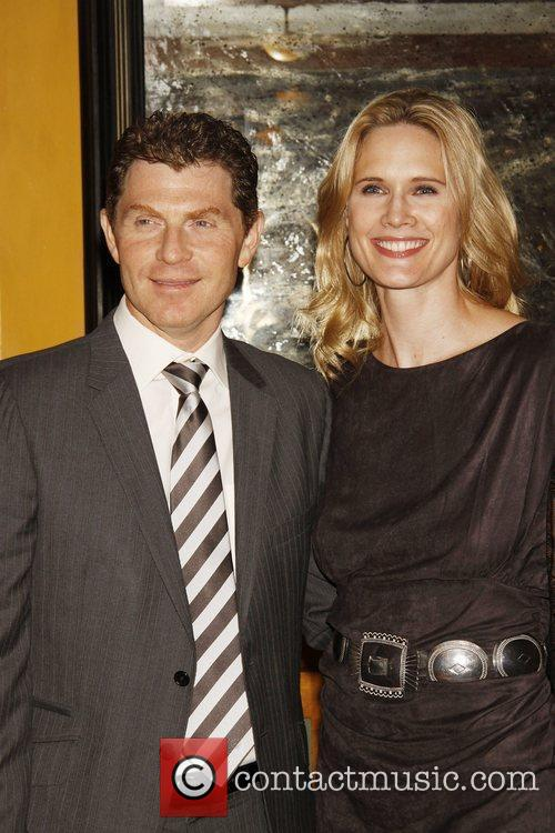 Bobby Flay and Stephanie March Opening night after...