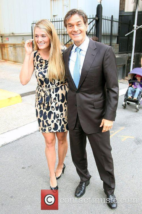 Dr. Mehmet Oz outside ABC studios after appearing...