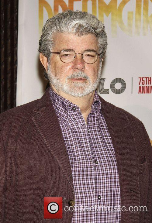 George Lucas Opening night of 'Dreamgirls' held at...