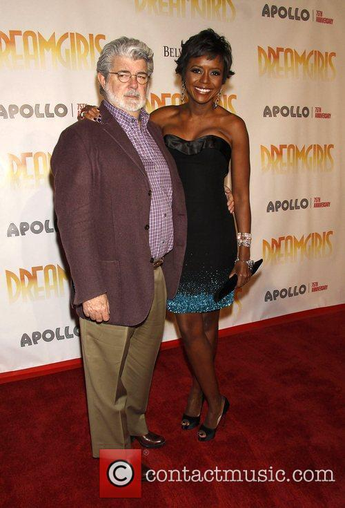 George Lucas and Mellody Hobson Opening night of...