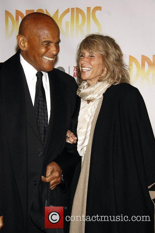 Harry Belafonte and Pamela Belafonte Opening night of...