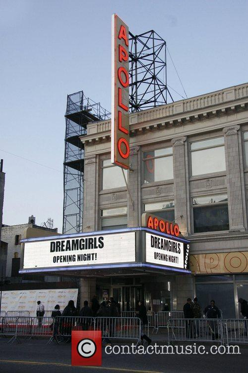 The Apollo Marquee Opening night of 'Dreamgirls' held...