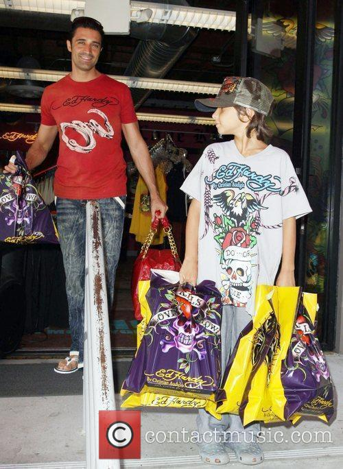 Gilles Marini Leaving Ed Hardy In Culver City With His Son 1