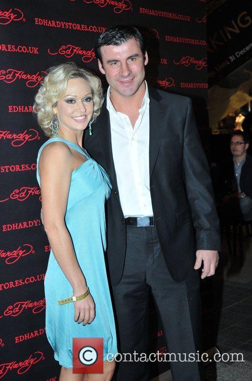 Joe Calzaghe and Kristina Rihanoff Ed Hardy -...