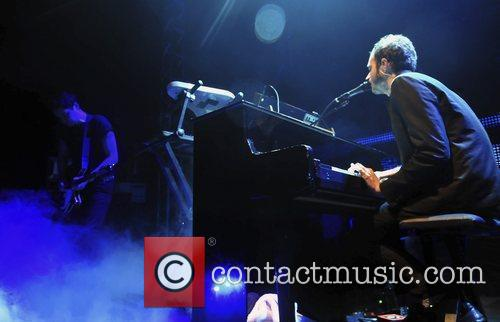 Editors performing live in concert at the O2...