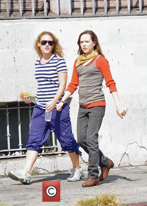 Ellen Page Filming On Location 2