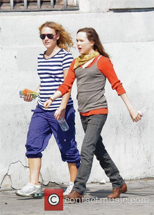 Ellen Page Filming On Location 1