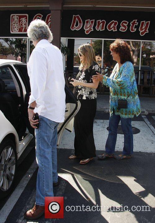 A heavily pregnant Ellen Pompeo leaving a Chinese...