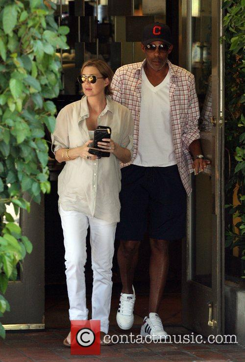 Ellen Pompeo and husband Christopher Ivery leave Ago...