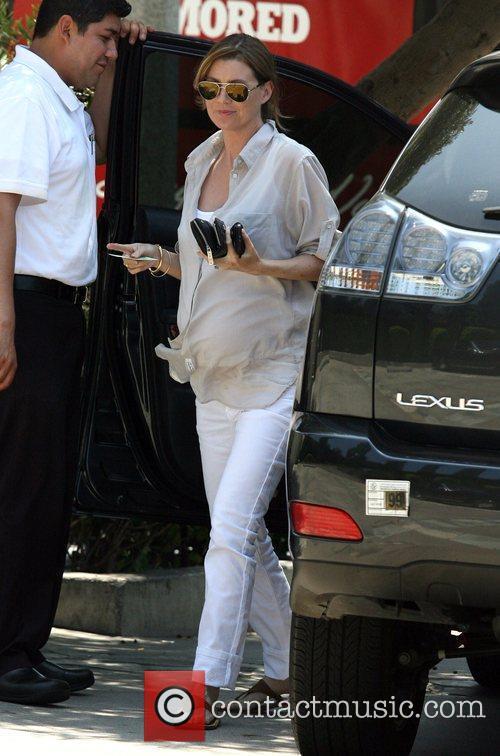 Ellen Pompeo leaves Ago restaurant in Beverly Hills...
