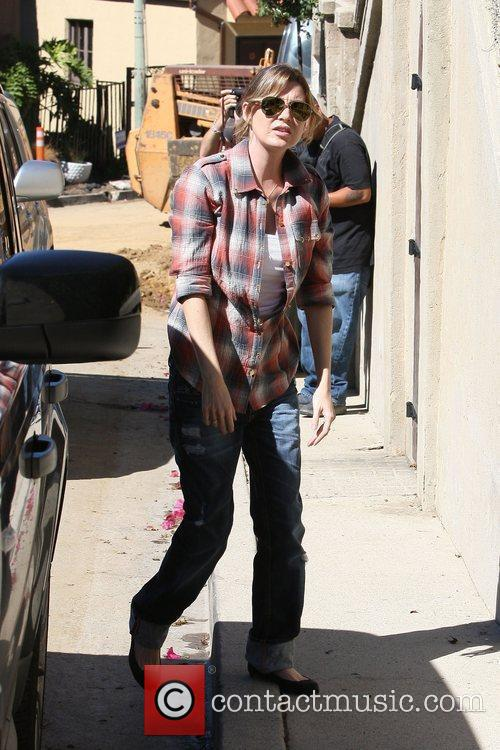 Ellen Pompeo out shopping at Whole Foods in...
