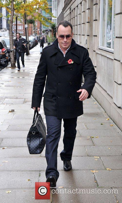 Leaving The King Edward VII Hospital after visiting...