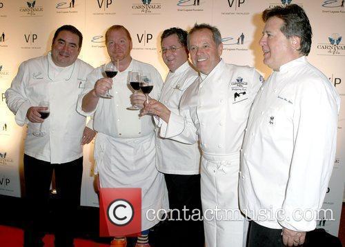 Emeril Lagasse, Mario Batali, Charlie Trotter, Wolfgang Puck and Norman Van Aken 7