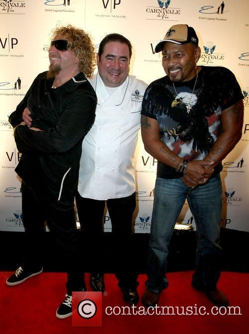 Sammy Hagar, Emeril Lagasse and Aaron Nevel Emeril...