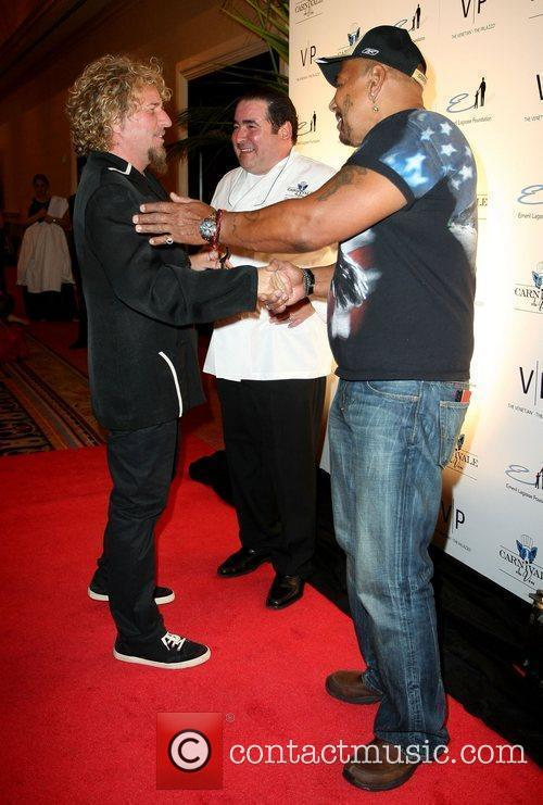 Sammy Hagar, Emeril Lagasse and Aaron Nevel 1