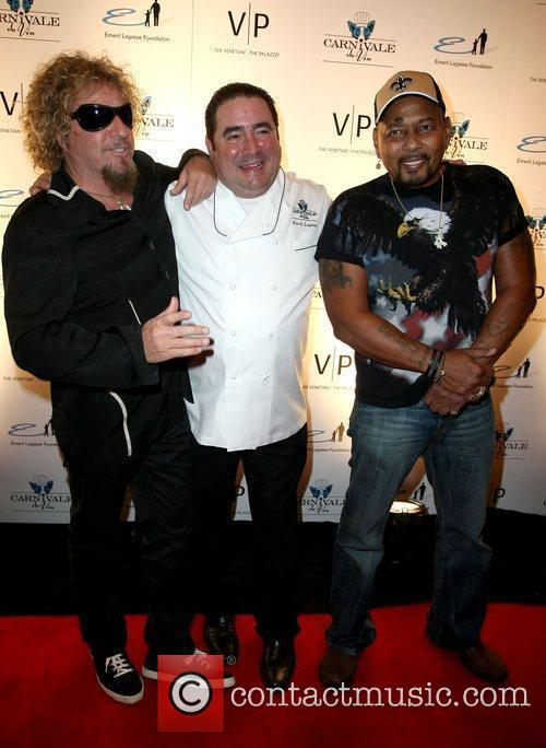 Sammy Hagar, Emeril Lagasse and Aaron Nevel 3