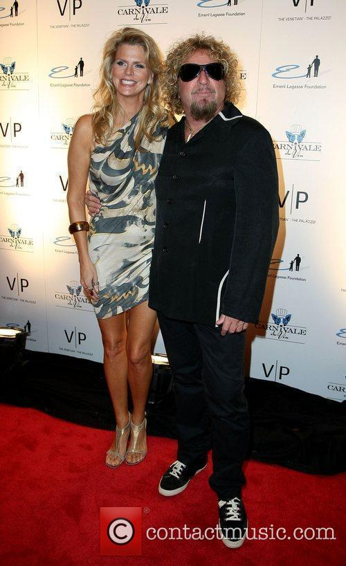 Sammy Hagar and wife Kari Emeril Lagasse Foundation's...