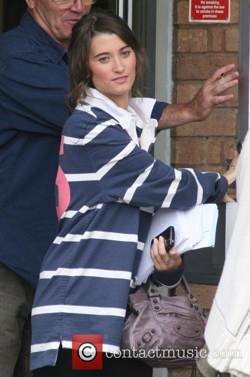 Charley Webb The cast of 'Emmerdale' outside the...