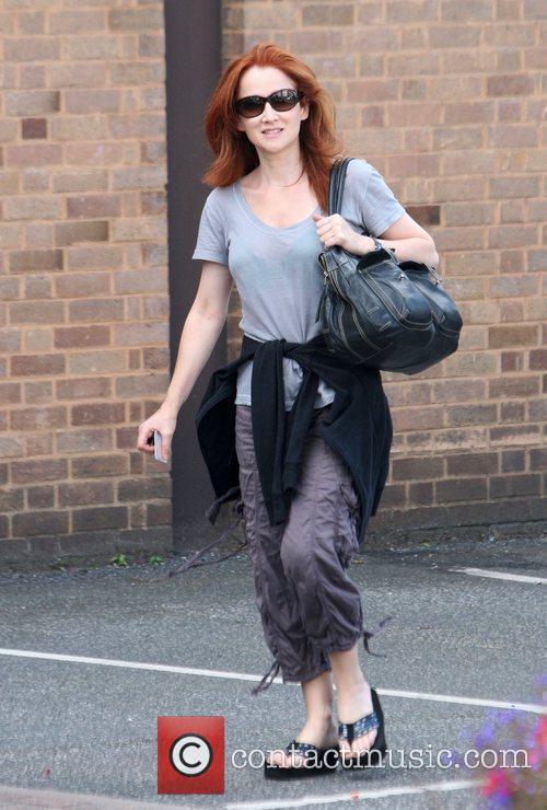 Kim Thomson The cast of 'Emmerdale' outside Yorkshire...