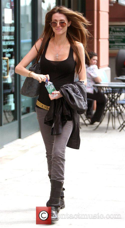 Leaving a medical centre in Beverly Hills