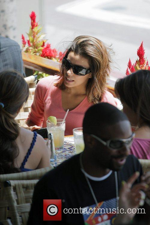Eva Longoria Parker leaving Cafe Med in West...