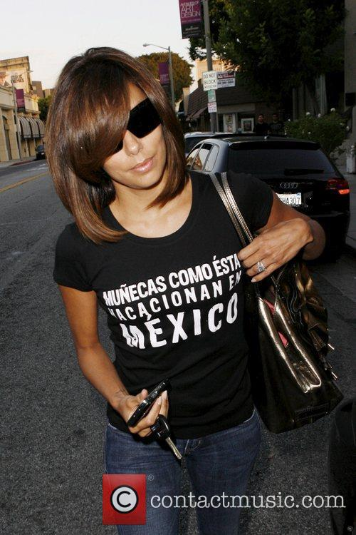Eva Longoria Parker leaving Ken Paves hair salon