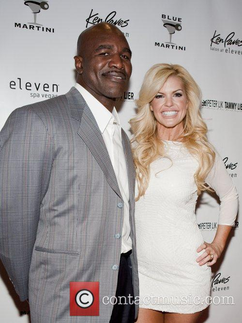 Evander Holyfield and Marley Taylor The unveiling of...