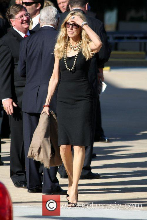 Alana Stewart attends the funeral service for actress...
