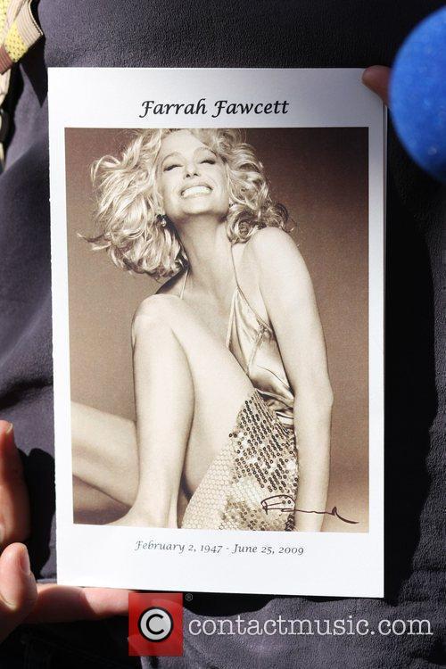 Farrah Fawcett funeral program Funeral service for actress...
