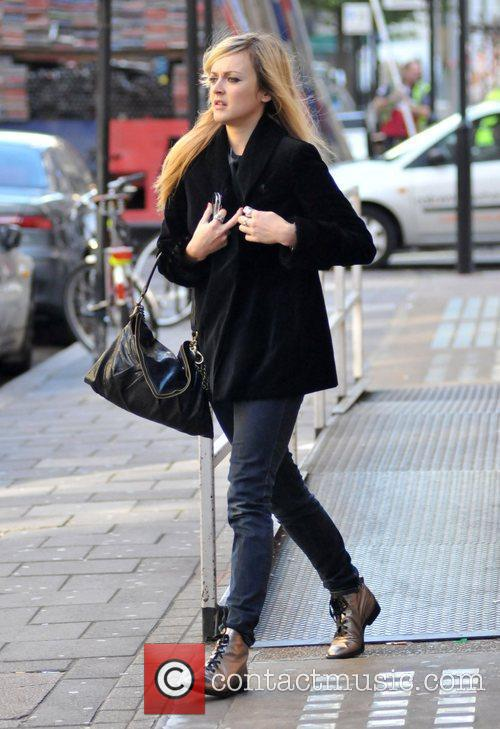 Fearne Cotton leaving the Radio One studios after...