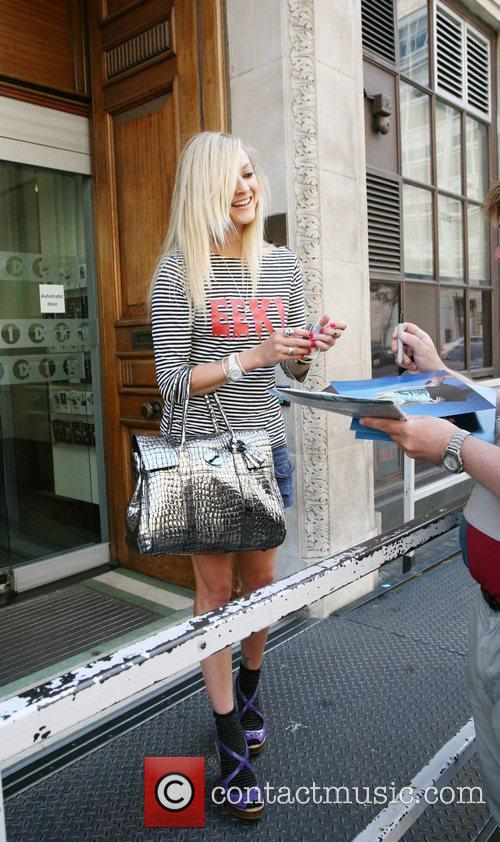 Fearne Cotton arriving at the BBC studios to...