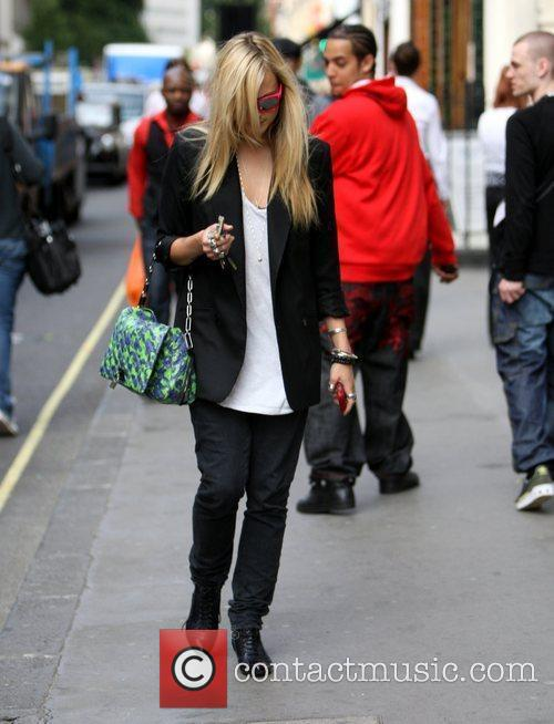 Fearne Cotton after leaving the Radio One studios,...