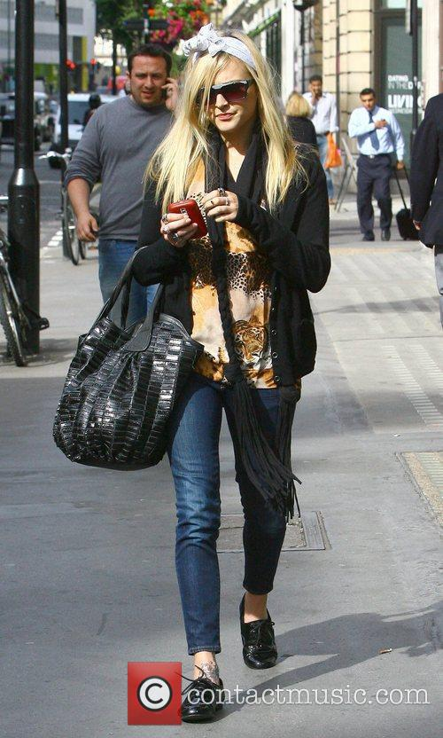 Fearne Cotton leaving the Radio One studios and...