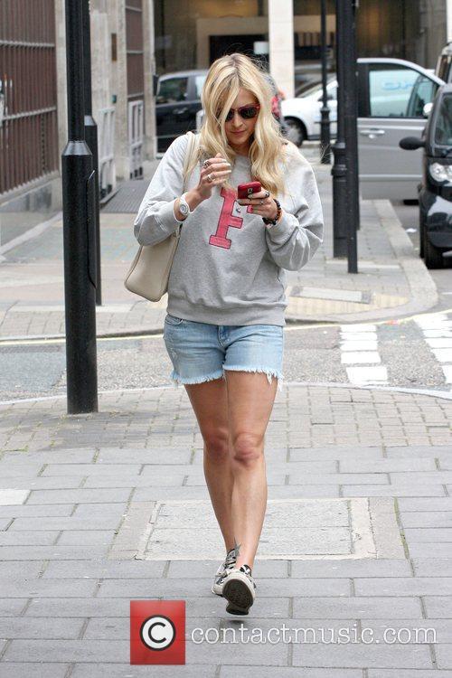 Fearne Cotton  leaving the Radio 1 studios...