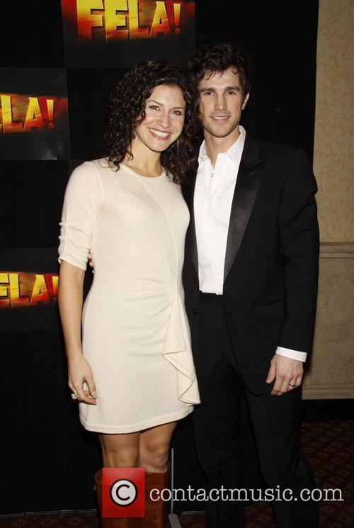 Jenny Powers and Matt Cavenaugh Opening night after...