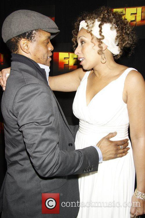 Kevin Mambo and Tamara Tunie Opening night after...