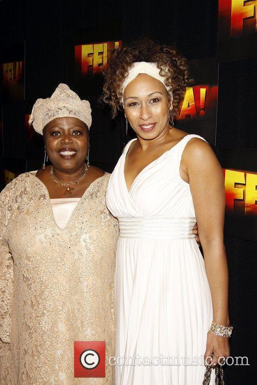 Lillias White and Tamara Tunie Opening night after...