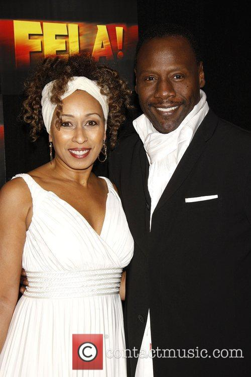 Tamara Tunie and her husband Gregory Generet Opening...